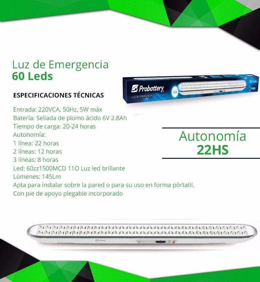 Luz emergencia probattery 60 leds uso directorio - Luz de emergencia precio ...