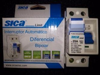 Interruptor automatico diferencial bipolar sica 2x25a 2p - Interruptor general automatico ...